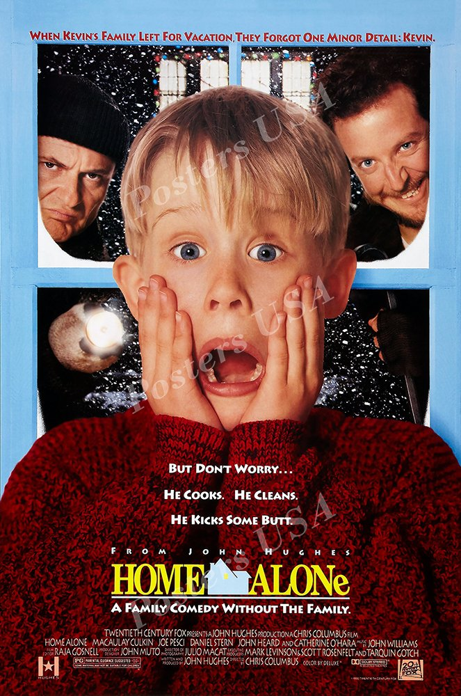 "Posters USA - Home Alone Movie Poster GLOSSY FINISH - MOV449 (24"" x 36"" (61cm x 91.5cm))"