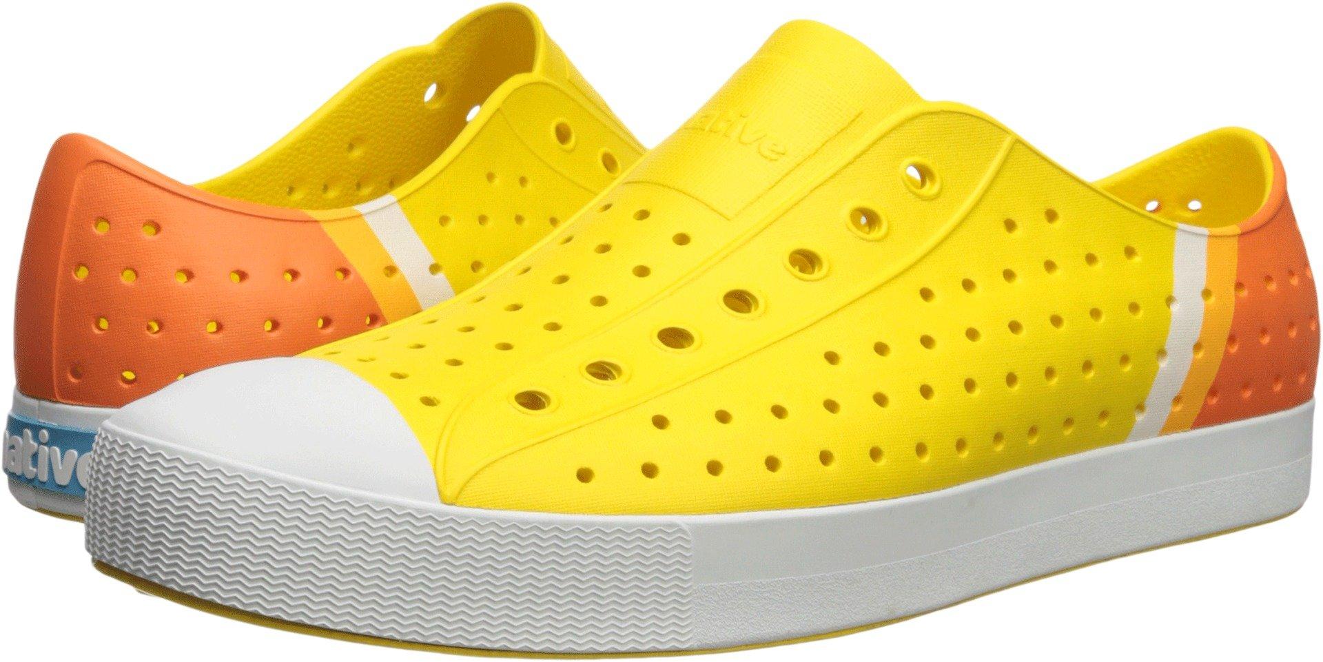 Native Shoes Jefferson Water Shoe, Crayon Yellow/Shell White/Gradient Block, 12 Men's M US