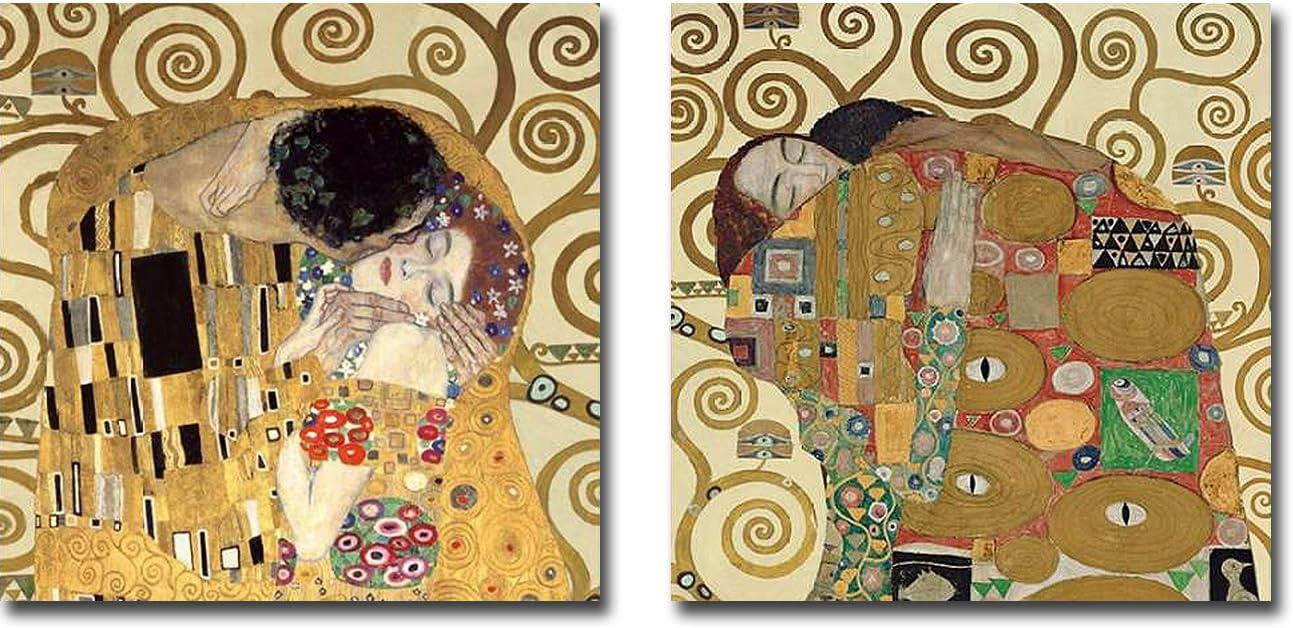 Embrace    by Gustav Klimt  Giclee Canvas Print Repro