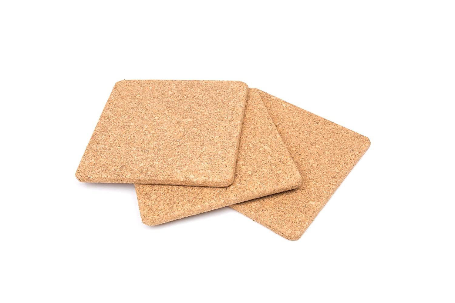 Fox Run 4441 Square Cork Trivets, 7-Inch, Set of 3