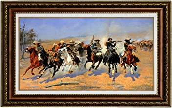 5122a2da9a7 Eliteart-A Dash for The Timber by Frederic Remington Oil Painting  Reproduction Giclee Wall Art