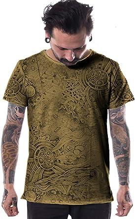 Camiseta Urbana Full Print Bordes recortados -Ropa Alternativa con Arte gráfico Original para Hombre: Amazon.es: Ropa y accesorios