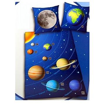 Scannbare Weltraum Bettwäsche 135 X 200 Cm Sonnensystem Qr Code