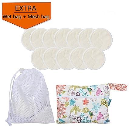 Teamoy discos desmaquillantes reutilizables, con 1 bolsa de lavandería y 1 Bolsa de almacenamiento,