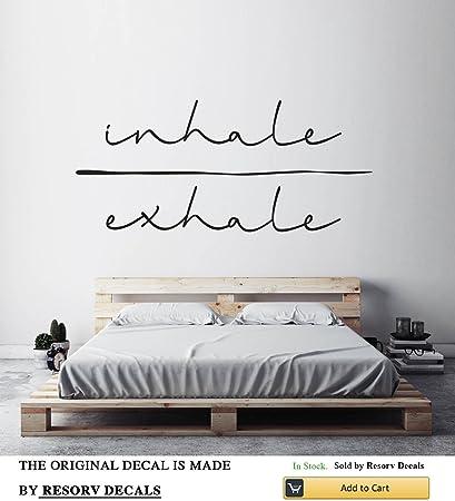 Amazon.com: Resorv Decals Inhale Exhale Art Typography Sticker ...