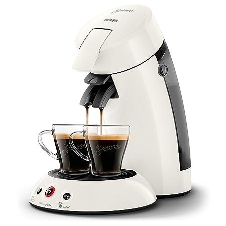 Senseo Original HD6554/11 - Cafetera (Independiente, Máquina de café en cápsulas, 0,7 L, Dosis de café, 1450 W, Blanco)