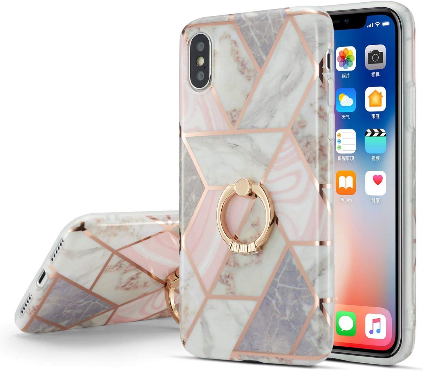 Defbsc Iphone X Iphone Xs Hülle Marmor Handyhülle Mit Elektronik