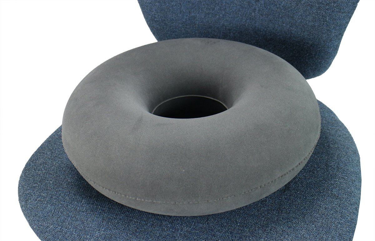 ObboMed SV-2500 (15'') Folding Inflatable Portable Ring Donut Seat Pillow Cushion – Relieves pain from hemorrhoids, Tailbone and Coccyx, bed sores, perineal pain, sciatica post child birth by ObboMed (Image #2)
