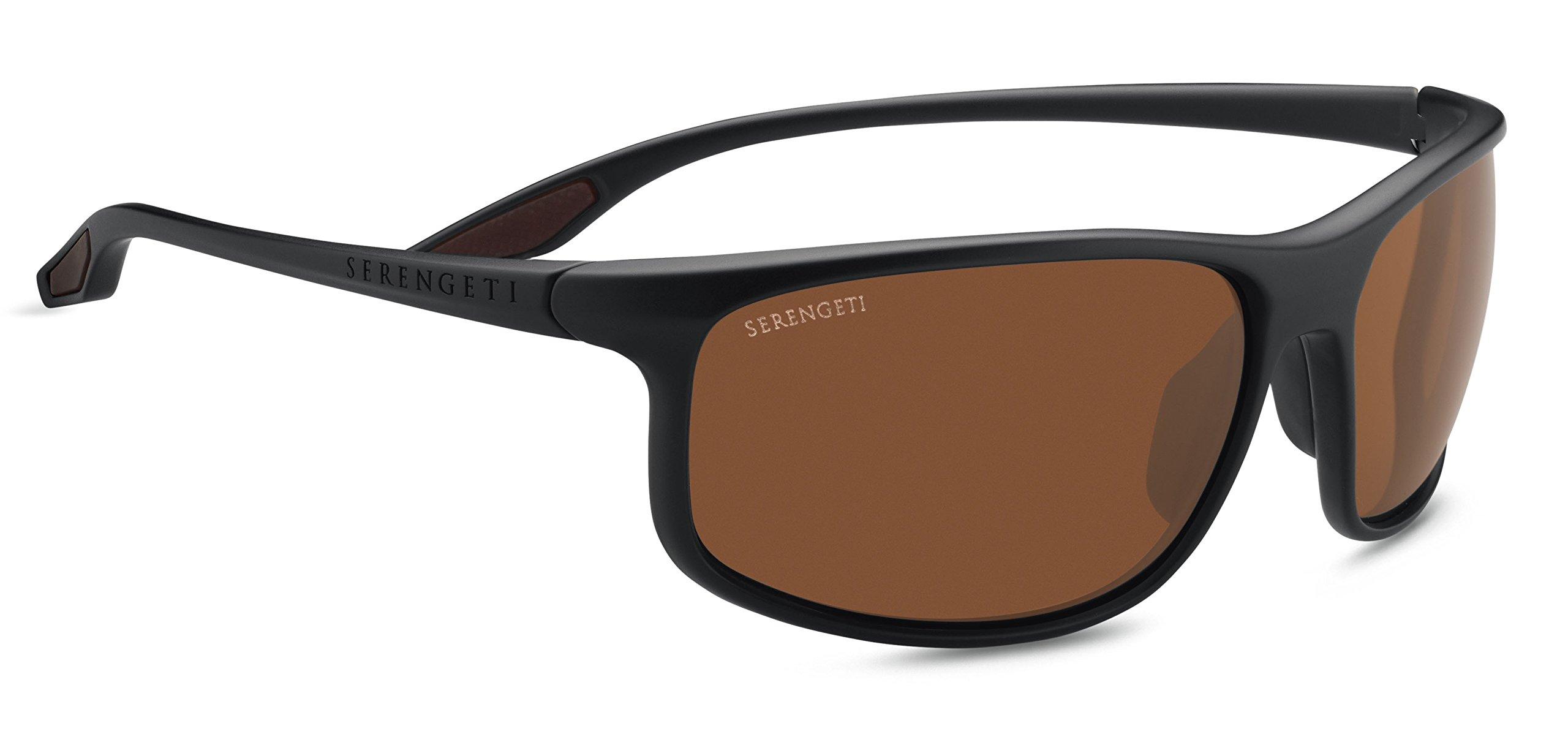 Serengeti Ponza Sunglasses Sanded Dark Rootbeer, Brown
