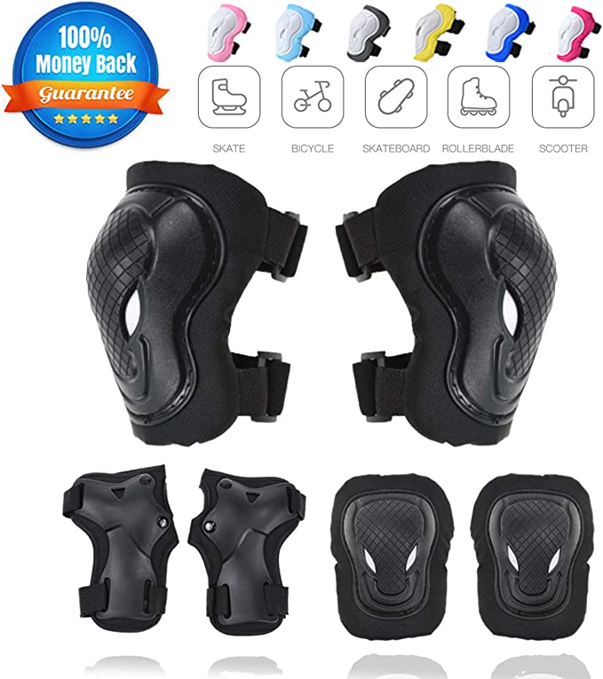 Details about  /LIKIQ Youth//Kids Knee Pad Elbow Pads Wrist Guards 3 in 1 Protective Gear Set ...