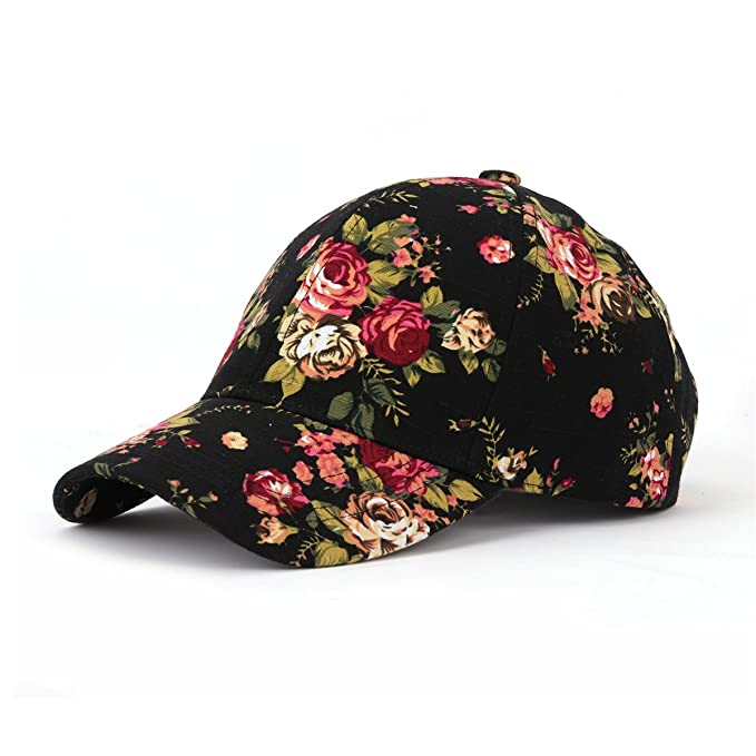 JOOWEN Floral Print Baseball Cap Adjustable 104% Cotton Canvas Dad Hat Hats  For Women (Floral-Beige) at Amazon Women s Clothing store  ff261b9ae59