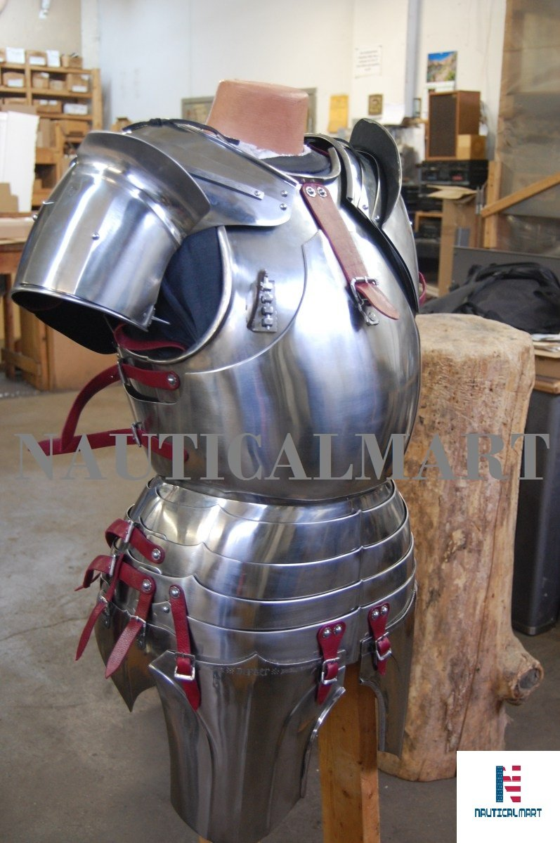 Reenactment Gothic Steel Cuirass Front & Back Medieval Breastplate