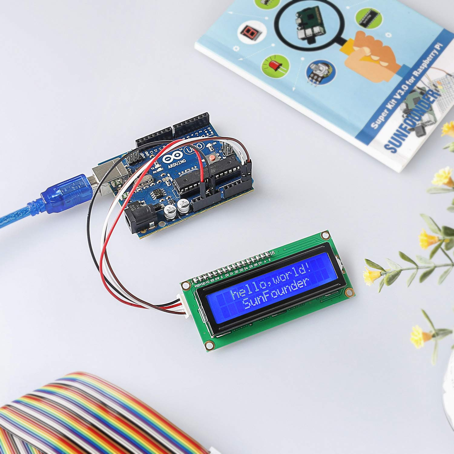SunFounder IIC I2C TWI 1602 Serial LCD Module Display for