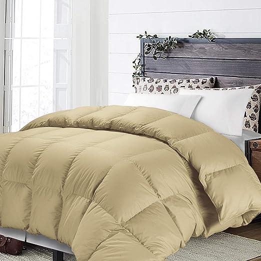 Khaki NTBAY Down Alternative Comforter All Season Duvet Insert Twin Warm Soft Fluffy