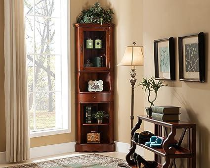 All Things Cedar Corner Curio Cabinet, Cherry