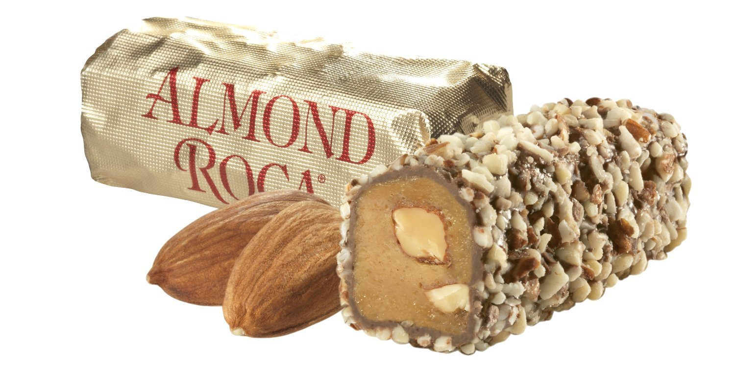 10 oz ALMOND ROCA Canister - Case of 9 Canisters by ROCA