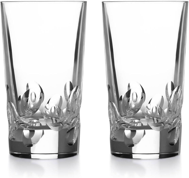 Christofle Cluny – Vaso de tubo de cristal, juego de 2: Amazon.es ...
