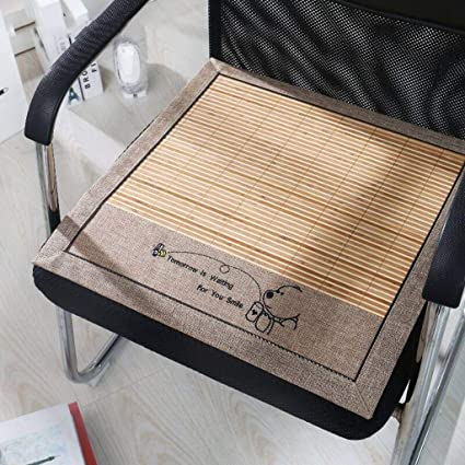 Amazon.com: Cojines de asiento de bambú para silla, cojines ...