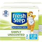 Fresh Step Advanced Clumping Cat Litter with Activated Charcoal & Natural Odor Control - Unscented