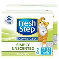 Fresh Step Advanced Clumping Cat Litter with Activated Charcoal & Natural Odor Control...