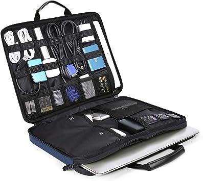 BAGSMART Funda Portátil Blandas Compatible con 13-14 Pulgadas Notebook y 12.9 Pulgadas Tableta, Electrónica Organizador Accesesorio para Impermeable Funda Protectora Multifuncional Bolso: Amazon.es: Electrónica