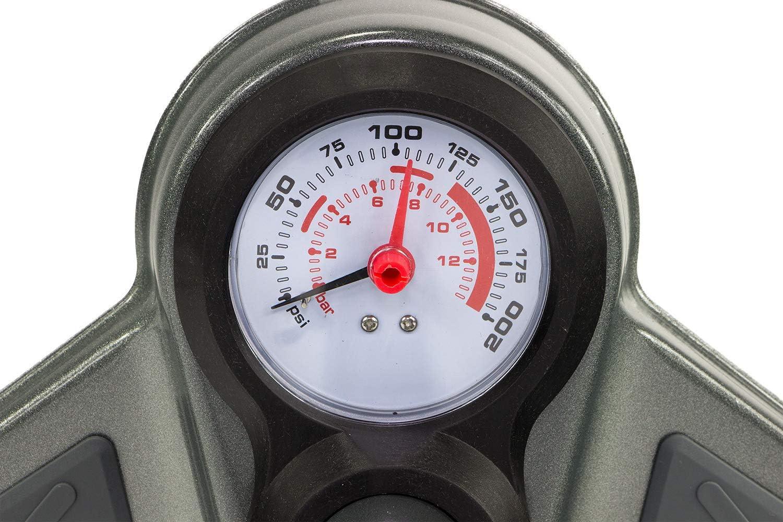 MVH Bockauf Fahrrad Luftpumpe Pumpe Hochdruck 12 bar Standpumpe Manometer f/ür alle Ventile