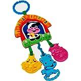 Happyハッピー耳 ベビーカー用おもちゃ ハンギングトイ 音鳴り 歯固め フック付き 赤ちゃん ふわふわ 可愛い動物玩具 出産お祝い プレゼント (ネコ)