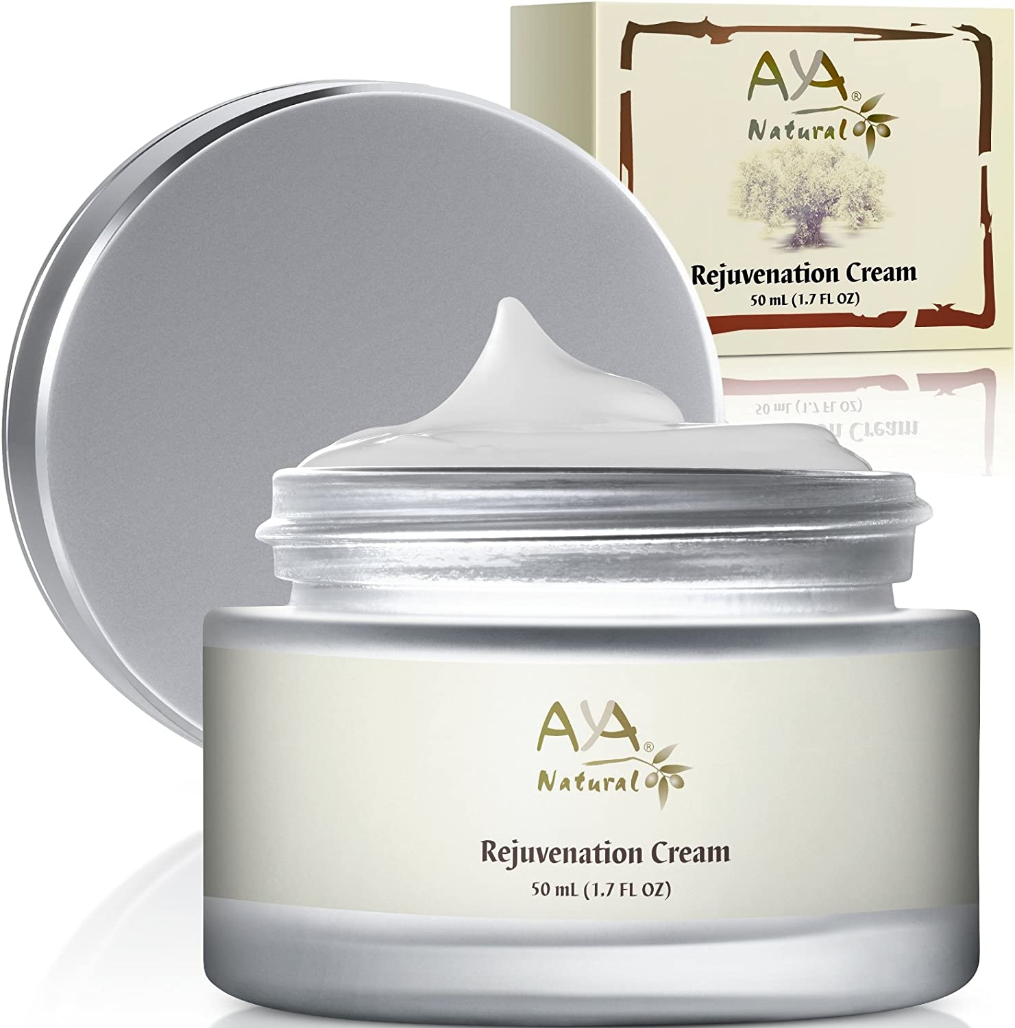 Aya Natural Anti Aging Face Cream - Natural Vegan Smoothing Nourishing Care