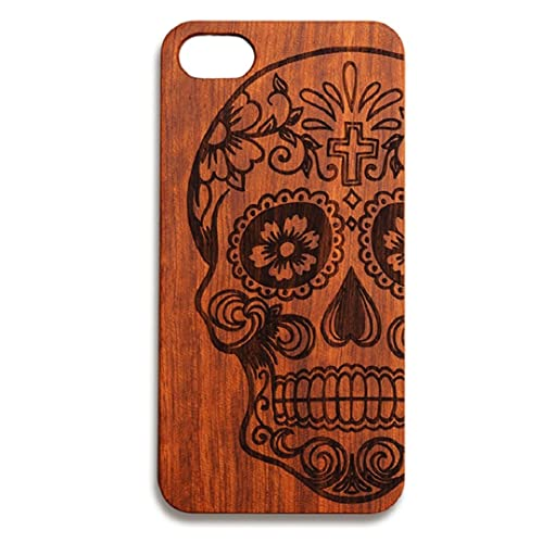 Iphone 8 Plus Case Nurbo Creative Unique Design Natural Carved Wood Wooden Hard Case For Iphone 8 Plus 5.5 Inch Skull