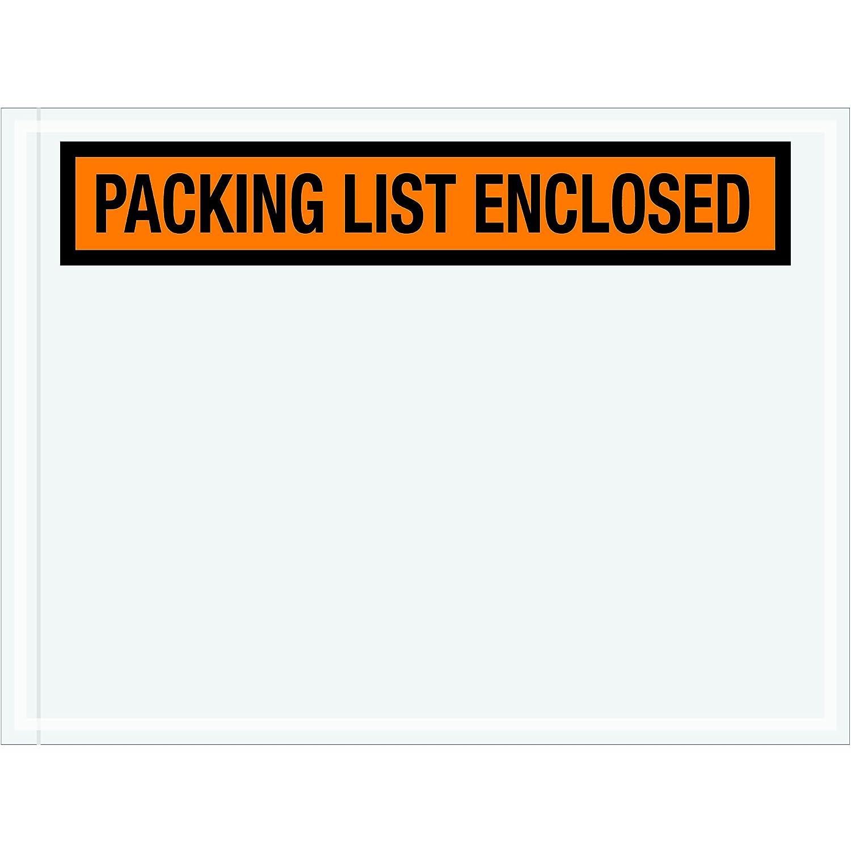 "1000 Pcs 4 1//2 x 6 Packing List Enclosed Envelopes Panel Face 4.5/"" x 6/"""