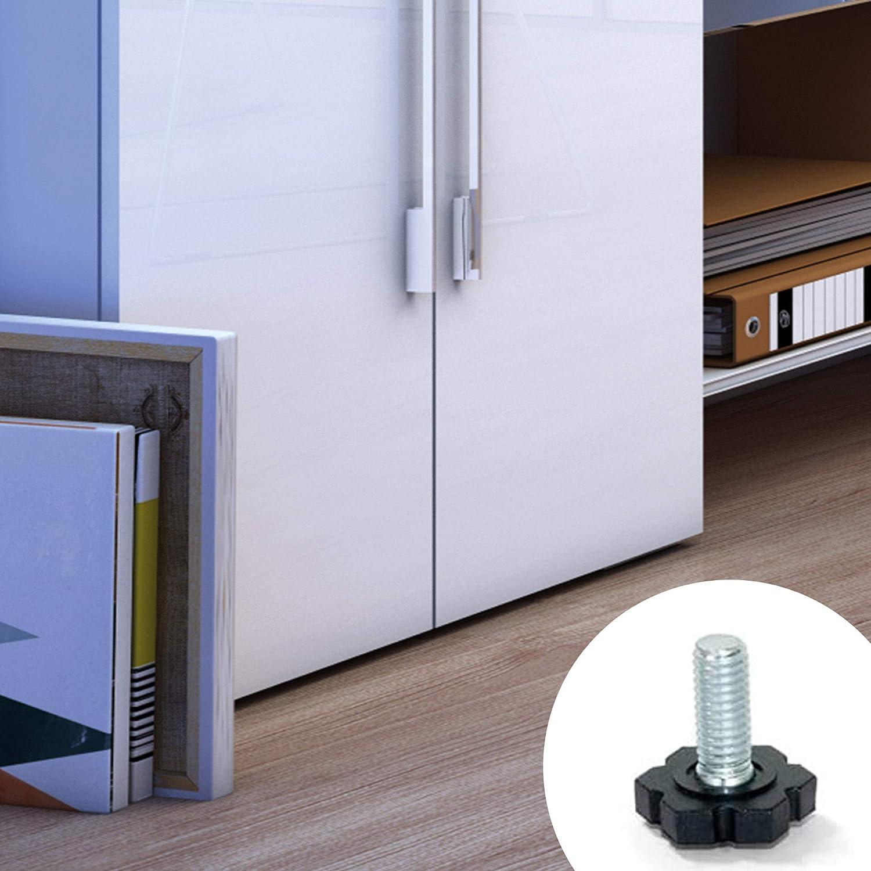 Emuca 2020205 Pie nivelador para mueble, rosca M6x25mm, Lote de 20 piezas: Amazon.es: Bricolaje y herramientas