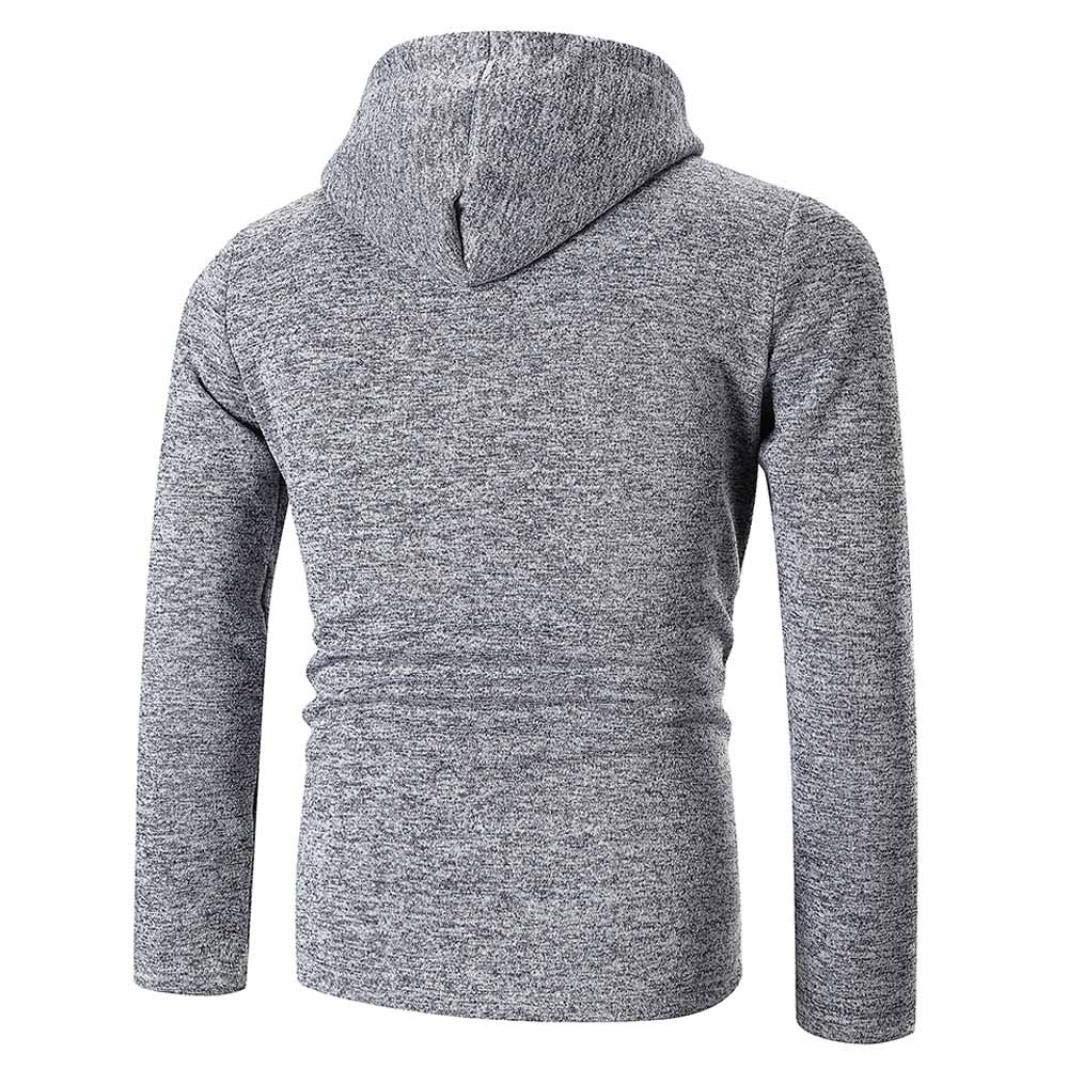 Dark Gray,Gray,Black,M//L//XL//2XL//3XL Mens Zipper Solid Hoodie Buttons Cotton Blend Pullover Balakie Sweatshirts Tops