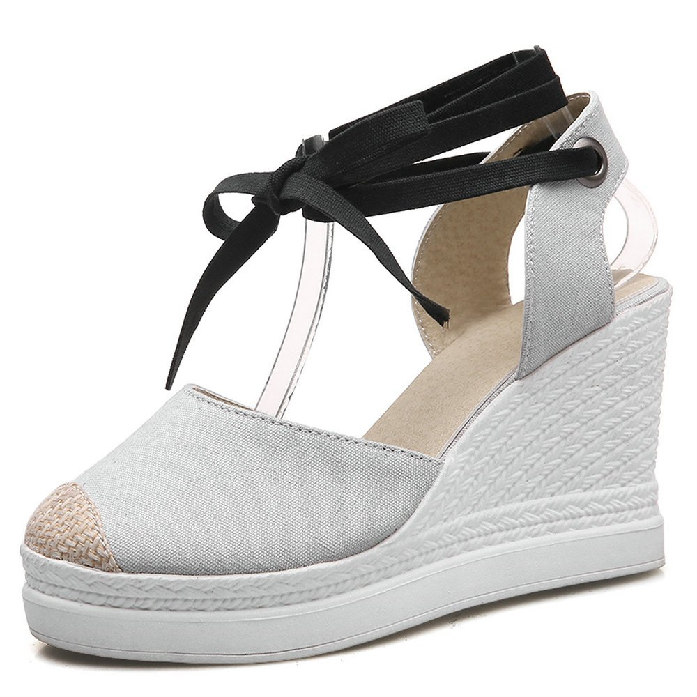 AnMengXinLing BEIDUOBANG-50-204, B000LSXRV0 Sandales Femme Compensées Femme Sandales Gris 36f5ecd - therethere.space