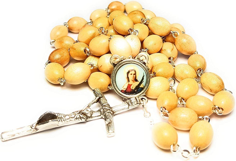 ni/ños enfermos, salesman Santa Luc/ía patron de Ciegos Relic Rosary 3rd class of Saint Lucy or Saint Lucia patron of the blind pobres