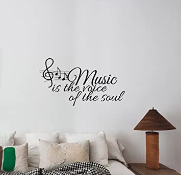 Mobel Wohnen Music Is The Voice Of The Soul Wall Decal Removable Sticker Decor Quote Words Dmfdentallab Com