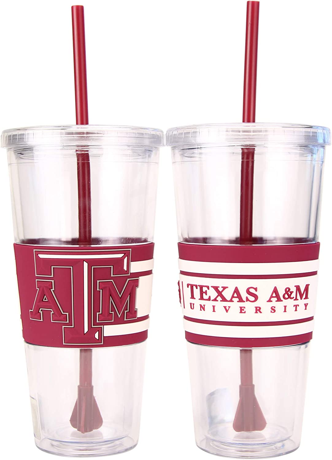 Boelter NCAA Hype 22oz Large Tumbler with Straw 2-Pack