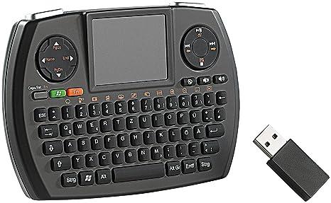 GeneralKeys – Inalámbrico de Micro MCE Teclado QWERTZ con Touch de Pad MFT de 276pro
