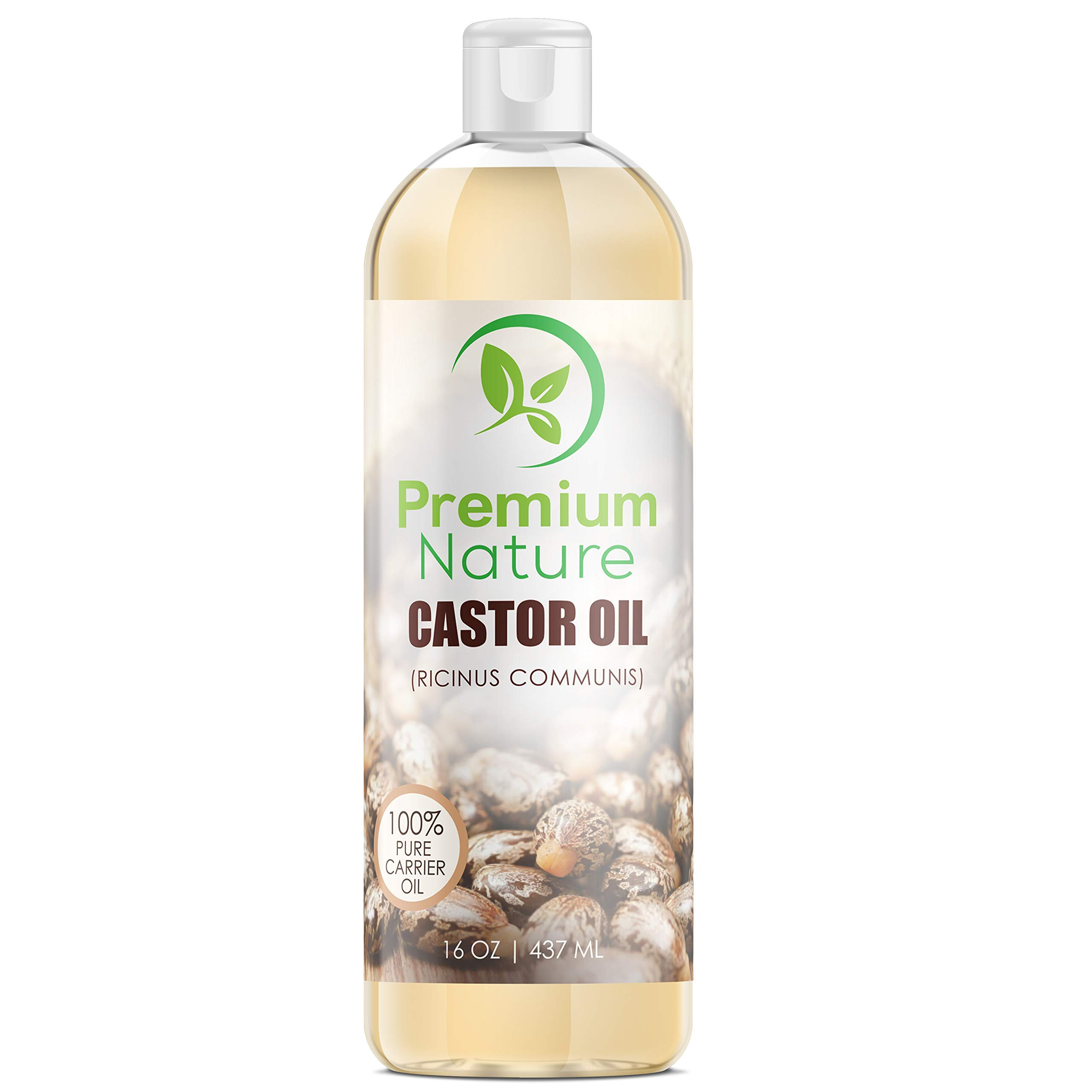 Castor Oil Pure Carrier Oil - Cold Pressed Castrol Oil for Essential Oils Mixing Natural Skin Moisturizer Body & Face Oil, Eyelashes Eyebrows Lash & Hair Growth Serum, Heals Inflamed Skin 16 oz product image
