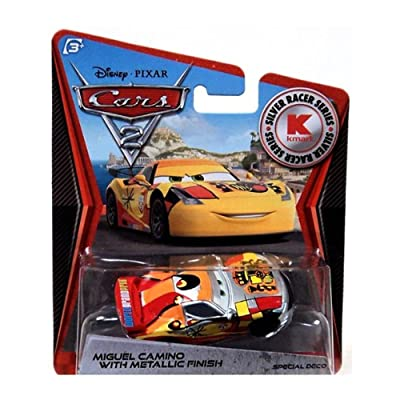 Disney PIXAR Cars 2 Miguel Camino With Metallic Finish Silver Racer Series: Toys & Games