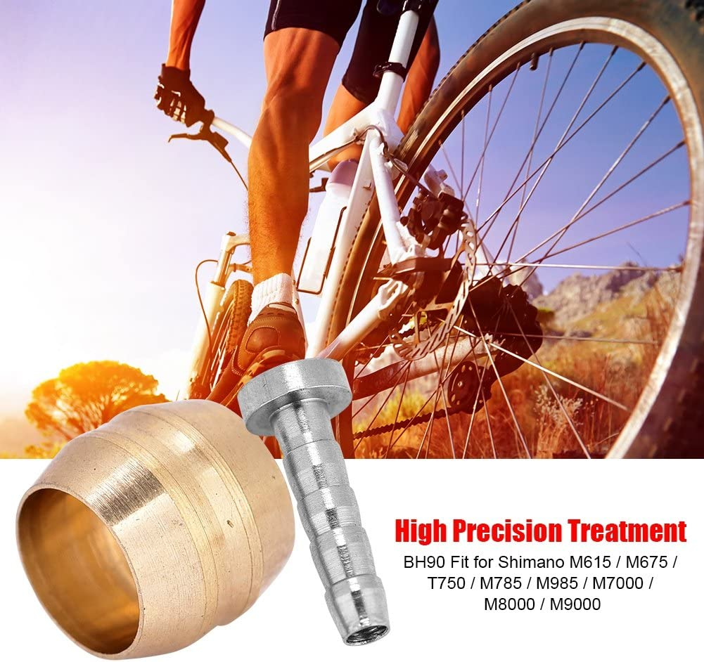 3m Bicycle Hydraulic Disc Brake Oil Tube Pipe+4pairs BH59 Olive Connector Insert