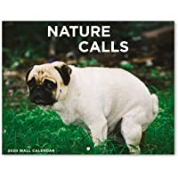 """2020 Wall Calendar - Pooping Dogs 2020 Calendar with Thick Paper, Large 11"""" x 17"""" When Open, Gag Gifts"""
