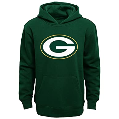 Green Bay Packers Youth Primary Logo Green Fleece Pullover Hoodie (Small 8) 8f819465d