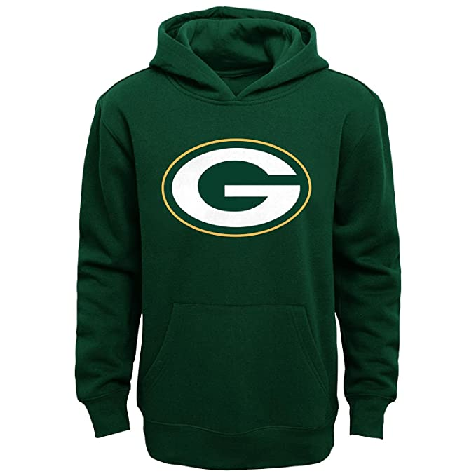 more photos 2bfe6 d9400 Green Bay Packers Youth Primary Logo Green Fleece Pullover Hoodie