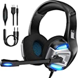 Gaming Headset for Xbox One, PS4 Gaming Headset with 7.1 Surround Sound Stereo, Noise Canceling Over Ear Headphones with…