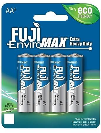 Fuji EnviroMAX AA4 Extra Heavy Duty Batteires. Eco Friendly … (Pack of 1)