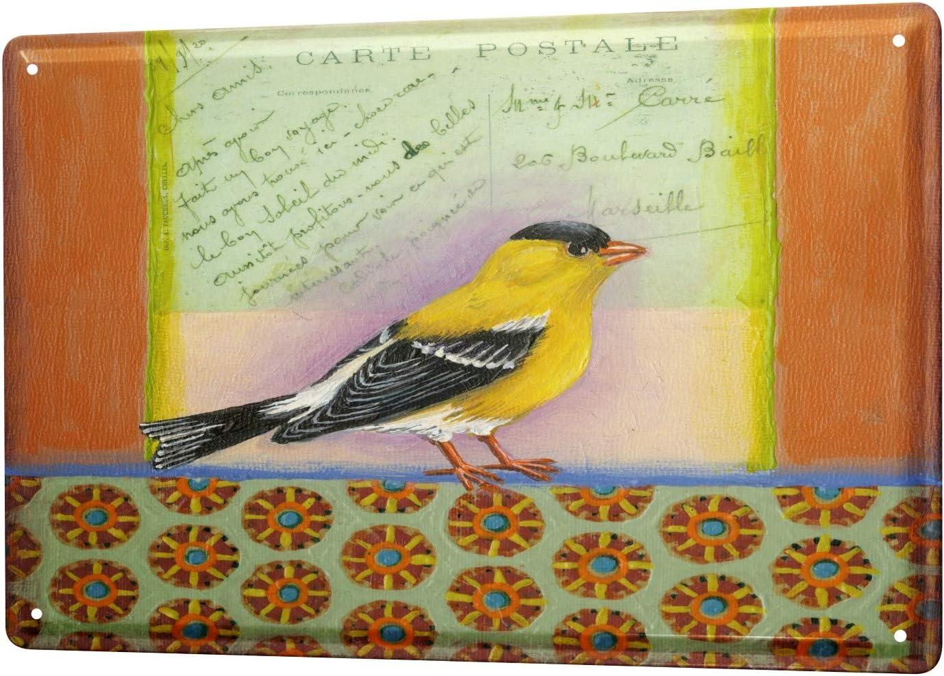 LEotiE SINCE 2004 Tin Sign Metal Plate Decorative Sign Home Decor Plaques Bird Postcard