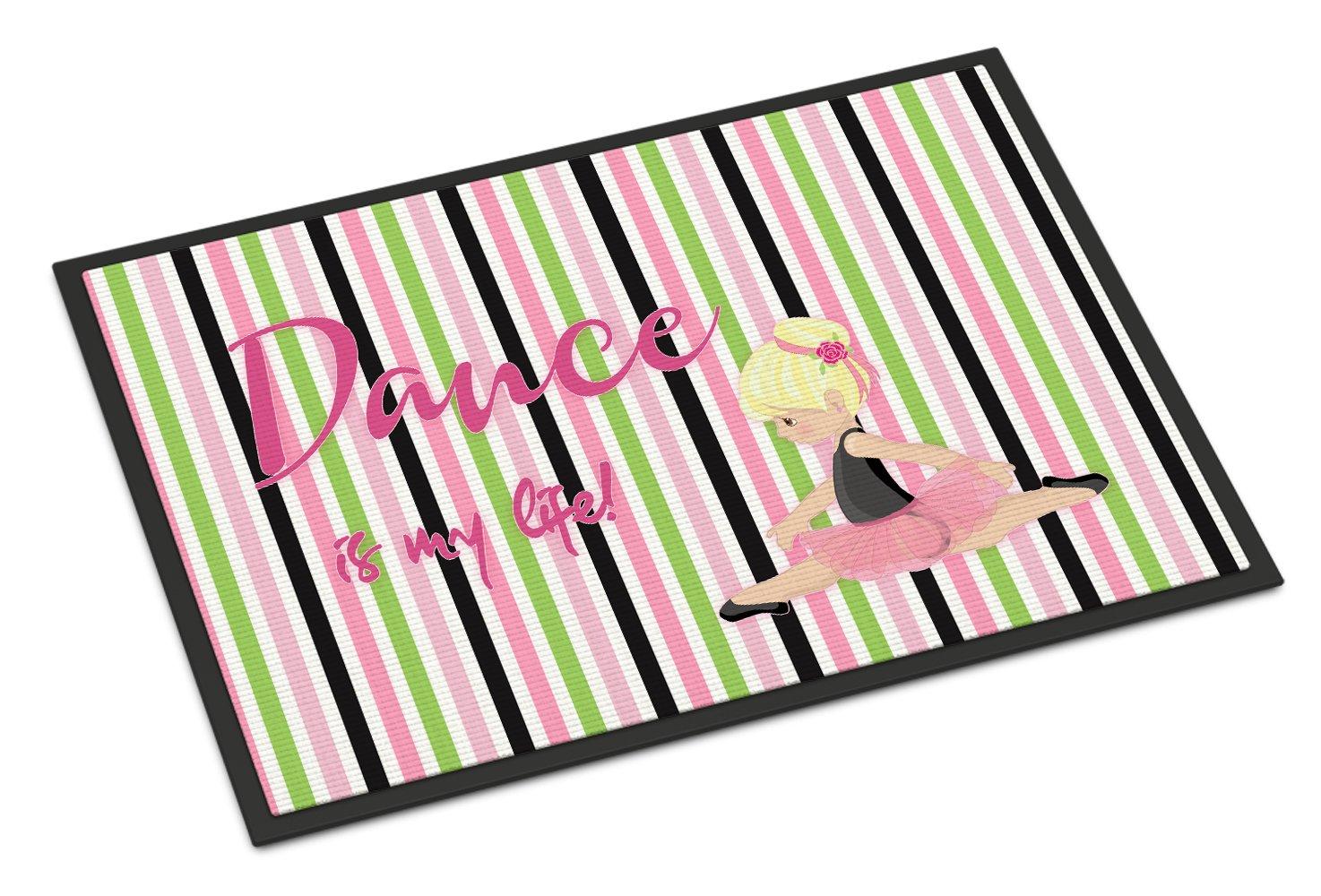 Caroline's Treasures Ballet Dance is my Life Blonde Doormat, 18 H x 27 W'', Multicolor