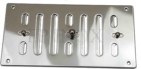 Presa daria e griglia in acciaio inox 316 a lamelle regolabili 152 x 76 mm