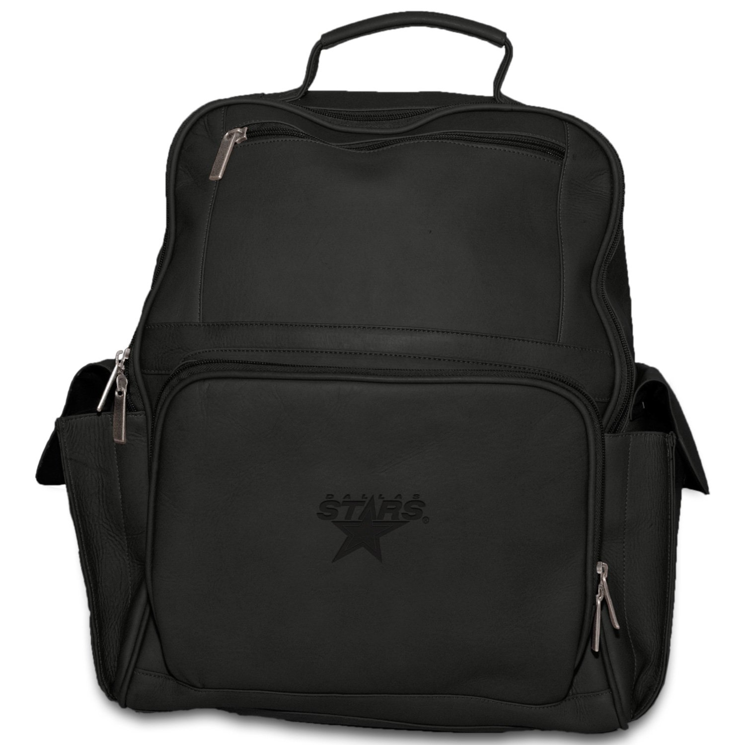 Dallas Stars Pangea Brands NHL Pangea Black Leather Large Backpack