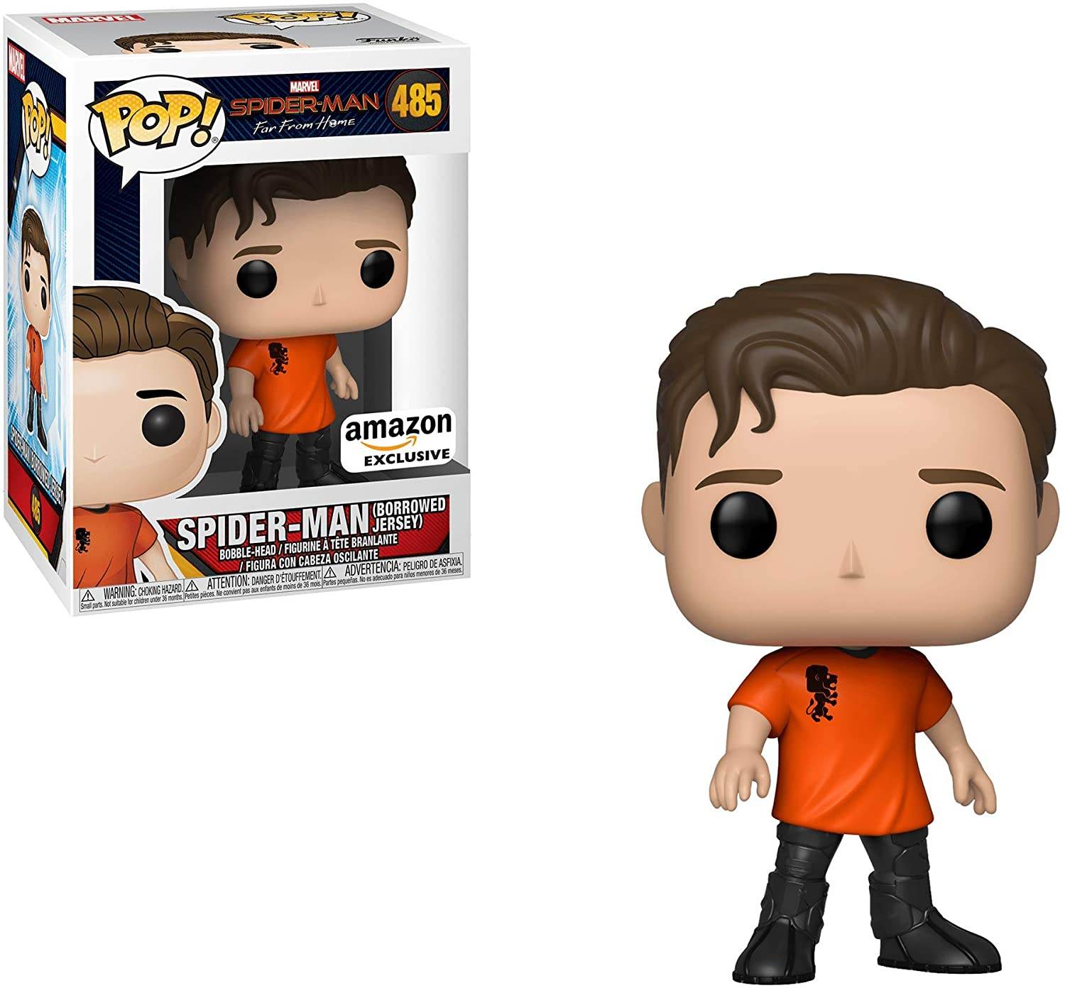 POP! Exclusive Spider-Man Far from Home #485 Spider-Man (Borrowed Jersey)